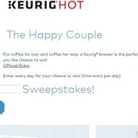 Keurig The Happy Couple Sweepstakes