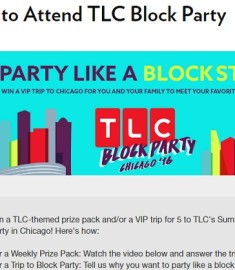 TLC's Summer Block Party Sweepstakes