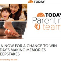 TODAY's Making Memories Sweepstakes