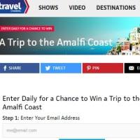 Travel Channel Win a trip to the Amalfi Coast