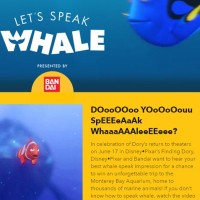 Disney Let's Speak Whale Sweepstakes