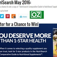 Dr Oz NutriSearch May 2016 Sweepstakes