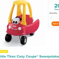 Pampers Little Tikes Cozy Coupe Sweepstakes