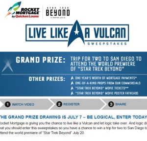 Quicken Loans Live Like a Vulcan Sweepstakes