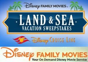 Disney Family Movies Land & Sea Vacation Sweepstakes