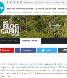 HGTV DIY Network blog Cabin Giveaway 2016