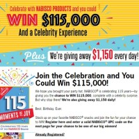 Nabisco 115 Moments of Joy Sweepstakes
