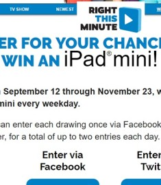 Right This Minute Win an iPad mini sweepstakes
