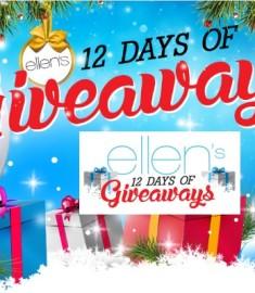 Ellen's 12 Days of Giveaway 2016