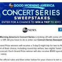 Good Morning America Concert Series Sweepstakes