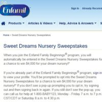 Enfamil Sweet Dreams Nursery Sweepstakes