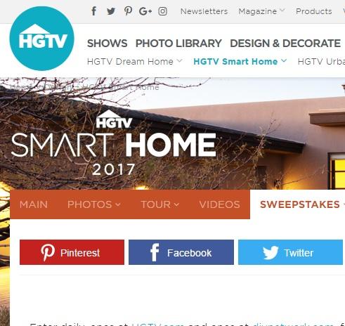 hgtv smart home sweepstakes - Hgtv Smart Home Sweepstakes