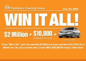 PCH Win It Alll Sweepstakes