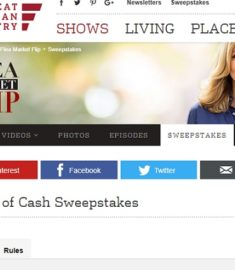 Flea Market Flip Stash of Cash Sweepstakes