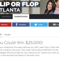HGTV 25 Grand sweepstakes Flip or Flop Atlanta 2017