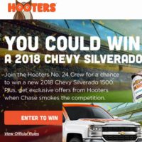 Hooters Win a Truck Sweepstakes 2018