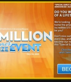 PCH $15 Million Summer Prize Event Sweepstakes