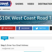 Travel Channel $10K West Coast Road Trip Sweepstakes