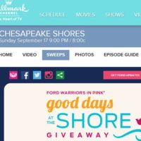 Hallmark Channel Chesapeake Shores Good days at the Shore Giveaway
