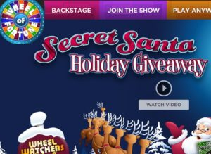 Wheel of Fortune Secret Santa Holiday Giveaway 2017