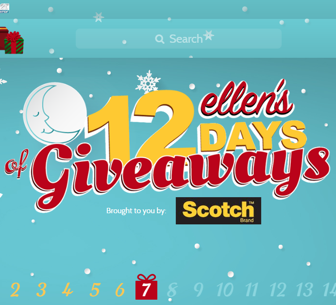 Ellens Days Of Giveaways Ellen Tube Sweeps Maniac - Ellen degeneres show car giveaway
