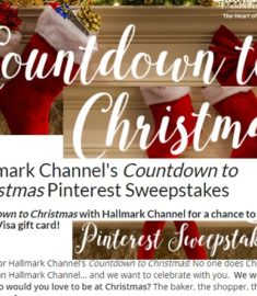 Hallmark Channel's Countdown to Christmas Pintrest Sweepstakes