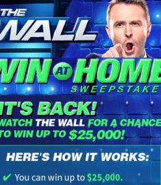 NBC The Wall Win at Home Sweepstakes