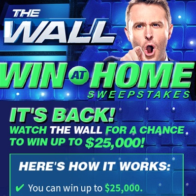 Nbc the wall win at home sweepstakes sweeps maniac for Win a home contest