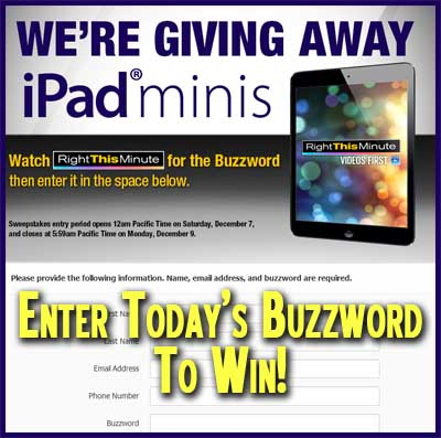 right this minute ipad mini giveaway right this minute giveaway win an ipad mini daily 852