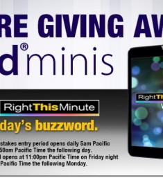 right this minute ipad mini giveaway right this minute twitter giveaway daily buzzwords 433