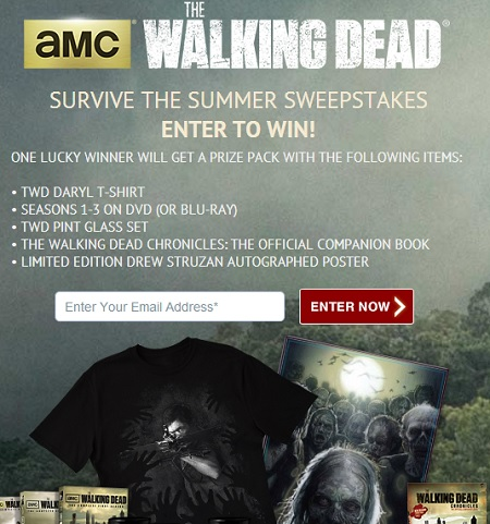 walking dead amc sweepstakes amc the walking dead survive the summer sweepstakes 576