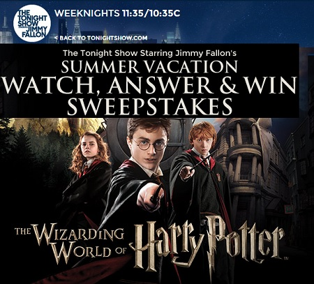 today show universal studios sweepstakes the tonight show summer vacation sweepstakes sweeps maniac 2474