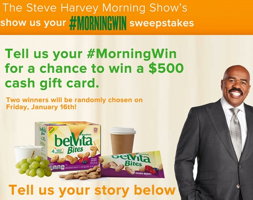 steve harvey sweepstakes steve harvey morningwin sweepstakes sweeps maniac 7822