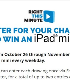 right this minute ipad giveaway facebook right this minute ipad giveaway sweeps maniac 2724