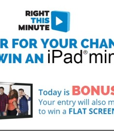 right this minute ipad mini giveaway right this minute ipad mini sweepstakes sweeps maniac 9932
