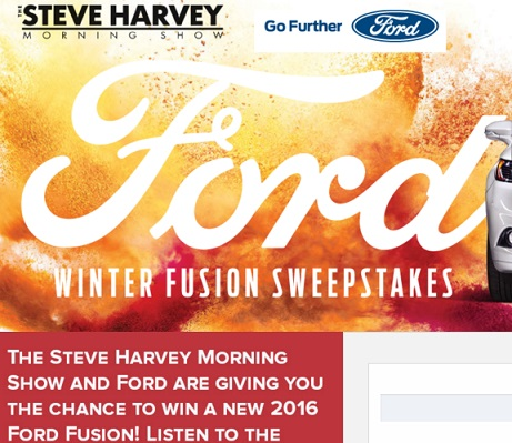 steve harvey sweepstakes steve harvey ford winter fusion sweepstakes sweeps maniac 9768